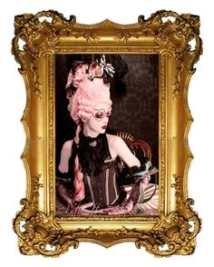 Rococo Pink Powdered Wig La Reine Pink Marie by AntoinettesAtelier, $499.95
