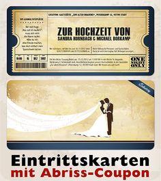 Vintage Einladungskarten zur Hochzeit • Eintrittskarte • Ticket • Einladung | eBay