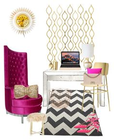 For a posh and chic office girl. This office look is perfect! Decorating Tips, Interior Decorating, Interior Design, Office Decor, Home Office, Pbteen, Dot And Bo, Office Interiors, Wonderland