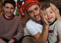 Matt Dallas and Blue Hamilton and their son, Crow.