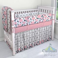 Inspirational solid Black Crib Bedding