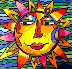 cbs sunday morning sun artwork - Google Search