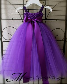 Purple Empire Waist Tutu Dress por ManaiaBabyDesigns en Etsy