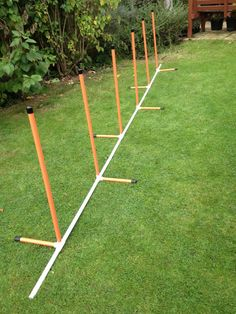 DOG Agility Coloured 6 Pole Weave With A Fixed Base BY Jessejump Agility | eBay