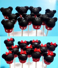 Mickey and Minnie cake pops soooo cute!!!!! I must learn how to make these
