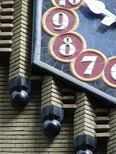 Dutch Art Deco in Amsterdam School style. former Post Office. Netherlands, city of Utrecht, Street: Neude.