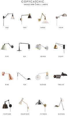 Home Trends | Swing Arm Wall Lamps