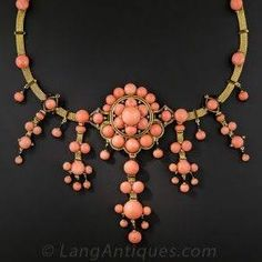 Image result for antique coral jewellery