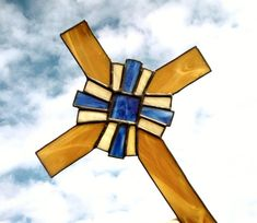 Beautiful stained glass cross.