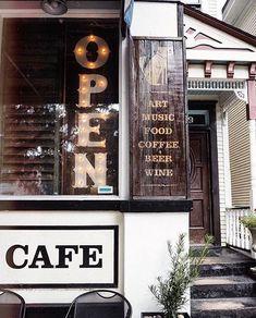 Foxy Loxy Cafe - Savannah, GA Outdoor Cafe, Outdoor Seating, Savannah Restaurants, Fried Chicken And Waffles, Sidewalk Cafe, Georgia On My Mind, Tybee Island, Savannah Chat, Coffee Shop