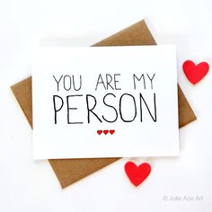 Valentine Card - You Are My Person