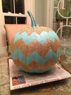 Chevron Halloween | She's Crafty chevron pumpkin
