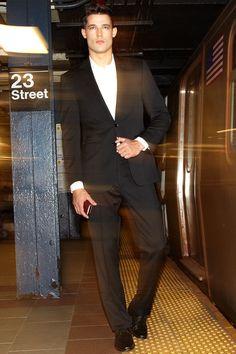 The classic black suit.