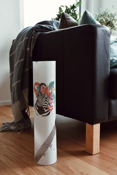 Pop Art Inspired Large Vase with Zebra Interior Design Studio, Recycled Materials, Modern Interior, Pop Art, Decoupage, Recycling, Vase, Inspired, Pattern