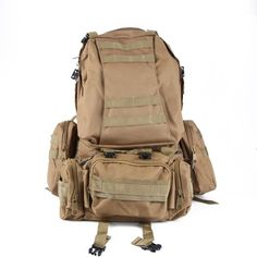WXBUY Large Outdoor Molle Assault Tactical Backpack Military Rucksack Backpack Bag USA (N) The Backpack is built with water resistant 600D Nylon Subject material. Molle layout, molle belt on the front and aspects.