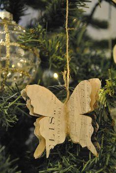 Shabby soul: Christmas Tree Paper Decorations DIY