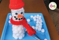 Winter Theme Ideas: Make a Snowman Fine Motor Activity Make A Snowman, Snowman Crafts, Preschool Christmas, Christmas Activities, Winter Activities For Kids, Crafts For Kids, Motor Activities, Preschool Activities, Origami