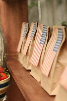Vintage Inspired Flag Bags
