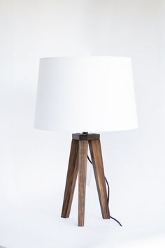 Hardwood Tripod Table Lamp // Mid century modern // Minimalist lighting // Wood lamp // Wedding gift // Anniversary gift // FREE SHIPPING