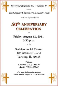 11 best church anniversary images on pinterest church ideas 25 church 50th anniversary invitations history of fbcup stopboris Image collections