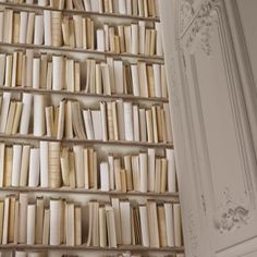 Ivory Library Wallpaper ~ WALLPAPER! This is SO awesome! (I have another pin coming with a second color but same style) ~ ♥