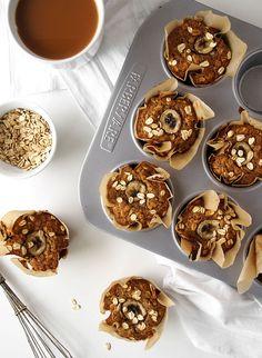 Whole Wheat Banana Oatmeal Muffins | The Kitchen Paper