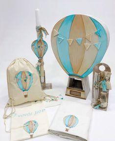 Σετ βάπτισης με θέμα αερόστατο, annassecret