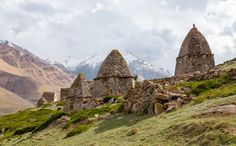City of the Dead . The complex of tombs in El Tyubyu , village Upper Chegem (Kabardino-Balkaria )