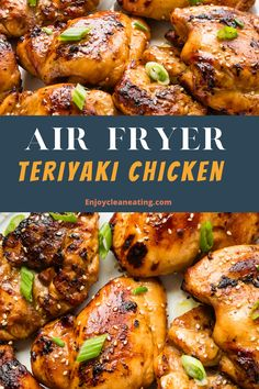 Chicken Teryaki Recipe, Healthy Teriyaki Chicken, Chicken Tenderloin Recipes, Grilled Chicken Recipes, Easy Teriyaki Chicken Wings Recipe, Air Fryer Chicken Tenders, Air Fryer Chicken Wings, Air Fryer Wings, Air Fryer Dinner Recipes