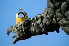 The Turul sculpture - Tatabánya.....The turul of origin Hungarian mythological  bird. Kézai Simon (Hungarian historian) under Prince Géza until the time was the crowned head  turul  of the Hungarian military badge. Tatabánya, Hungary