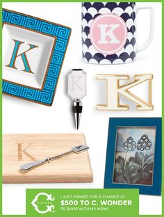I just pinned for a chance to win these #monogram gifts plus a shopping spree at C. Wonder with my mom! Now it's your turn: https://www.facebook.com/CWonderStore/app_374080112709772?ref=ts #cwonder #mothersday