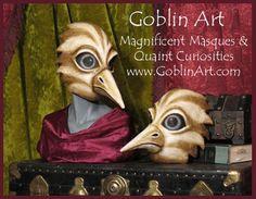 2 bird masks for Avian Fable by goblinart, via Flickr