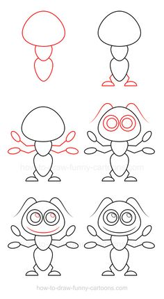 Learn how to draw an ant mostly made from circles and simple shapes.