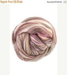 SALE Superfine merino wool roving 19 microns 4 oz,color blend (November)
