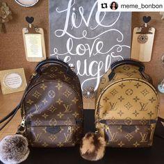 "c50e4d1c1420 P O M P O M A N I A on Instagram  "" Repost  meme bonbon with  repostapp ・・・  Twinning 👯 Palm Springs Mini Backpacks 🎒🎒  lv  louisvuitton  luxurybag  ..."