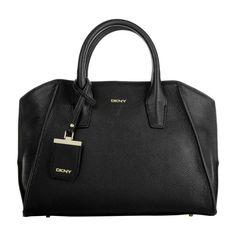 Bolso de piel en color negro de DKNY - BAGIT Quality Bags
