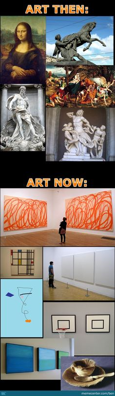 Art in the past and art nowadays