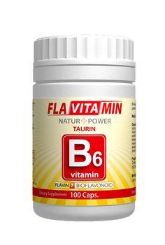 Vitamina B6 cu Flavin 7 Taurina 100 capsule