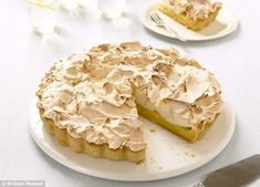 Lemon Meringue Pie | recipe from the book 'Cook Up a Feast' by Mary Berry and Lucy Young | via Mail Online