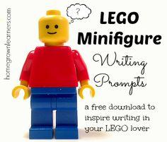 LEGO minifigure writingprompts. Lego Activities, Writing Activities, Writing Workshop, Writing Prompts, Writing Ideas, Writing Inspiration, Used Legos, Lego Challenge, Free Lego