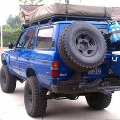 FJ60 body + FZJ 80 chassis + 350 V8 That tire hanger