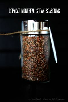 Copycat Montreal Steak Seasoning-so tasty and only 4 ingredients