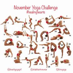 """In case you missed this... We will be posting first pose tomorrow night.  Announcing the November Yoga Challenge! #healinghearts We will be focusing…"""