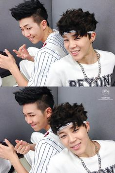 Rap Monster and Jimin 131107