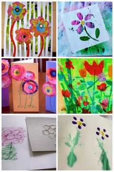 Flower art projects for kids to make - plus lots more spring art projects for kids!
