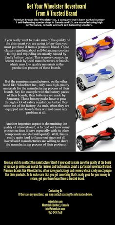 Premium brands like Wheelster Inc. often have good ratings and reviews which is why most people like their products. So to make sure that you get something that's really good for your money in return, get your #hoverboard from a trusted brand. You Really, You Got This, Make Sure, How To Make, Premium Brands, People Like, Money, Products, Silver