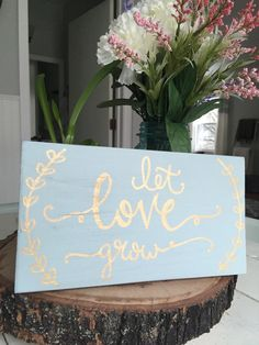Spring Sale Item! Reduced from $20 down to $15!  This charming and rustic Let Love Grow sign would be the perfect addition to your home! Enjoy the brightness of Spring in a variety of colors.  Each sign is designed, hand-lettered, and hand-painted by me. I do not use any stencils or templates to create my work, so each sign I make is custom and unique. My signs are made from reclaimed pallet wood, sanded and refinished with chalk paint. Signs can be finished in a variety of background and…