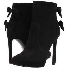 Nine West Lateeri (Black Suede) High Heels ($139) ❤ liked on Polyvore featuring shoes, black stiletto shoes, black high heel shoes, black stilettos, black suede shoes and kohl shoes