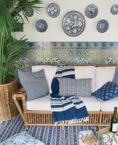 Beautiful use of blue and white. The tiles are just stunning!