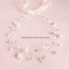 Япония и Южная Корея ручной белый кристалл невесты свадебный венок корейских жемчужно головной убор голова цветок аксессуары для волос ленты для волос ленты для волос - Taobao